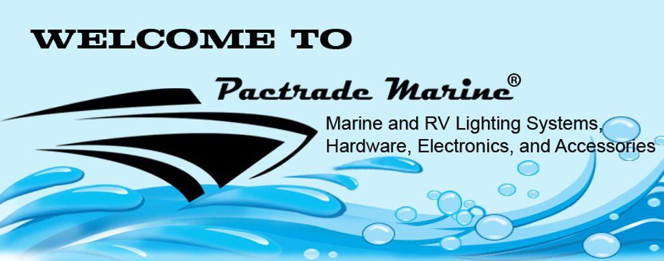 Pactrade Boat 2-Prong Chrome Stern Light Pole Base Sliding Socket Plug In