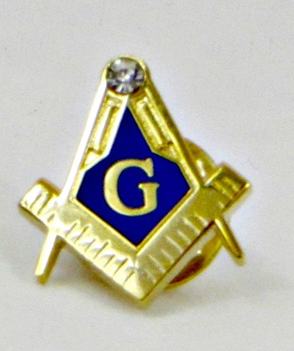 Square And Compass Master Mason Lapel Pin Masonic Large Ebay