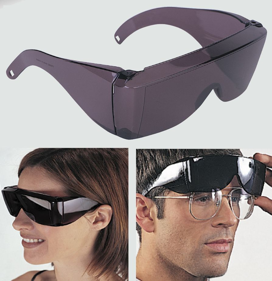 Wrap Around Black Sunglasses Uv Protection Over Glasses Safety Shields Post Op Ebay