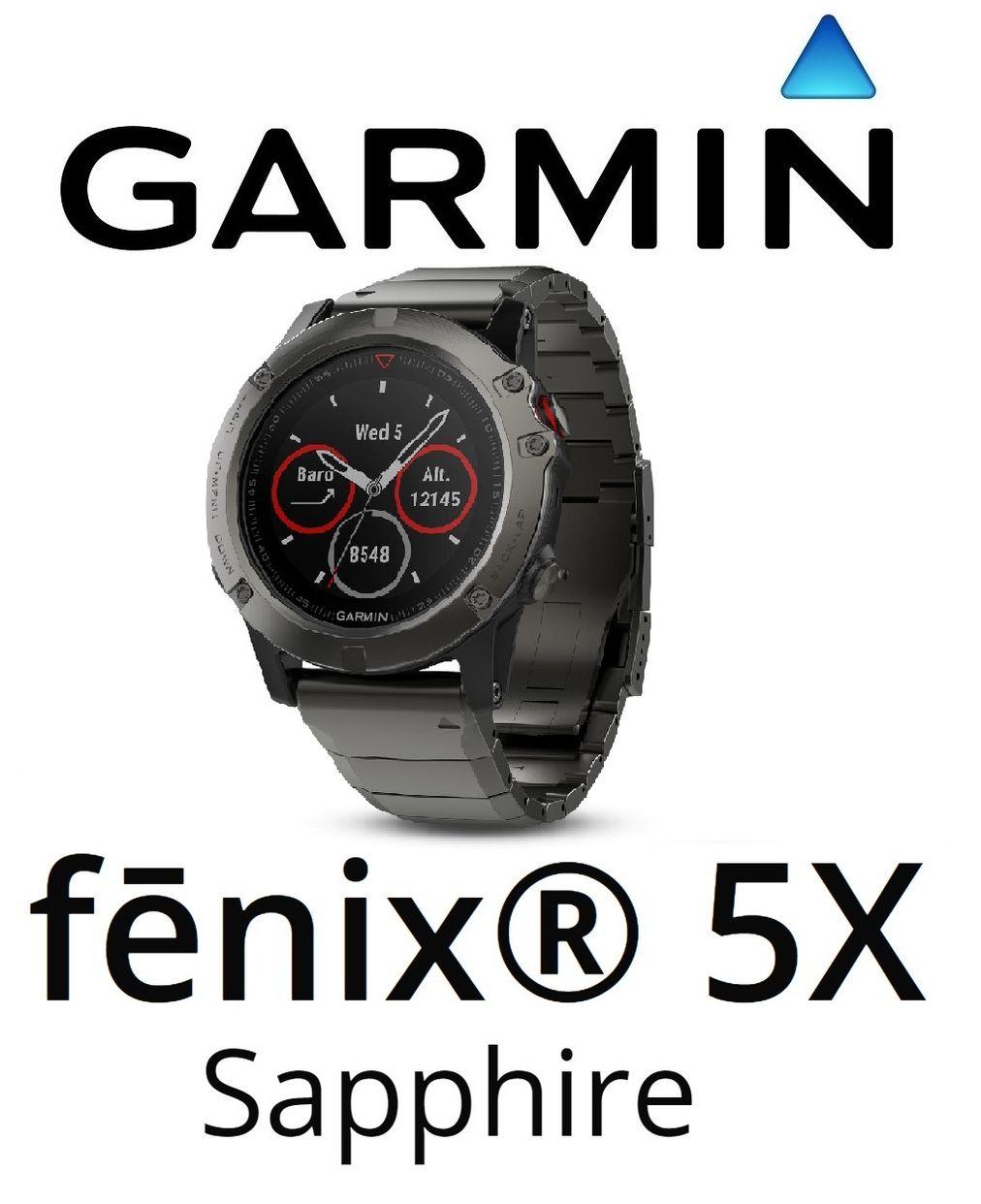 Garmin Fenix 5x Slate Gray Sapphire Gps Sport Wrist Hr Watch 51 Mm 5 Grey In The Box Fnix W Metal Band Charging Data Cable Documentation