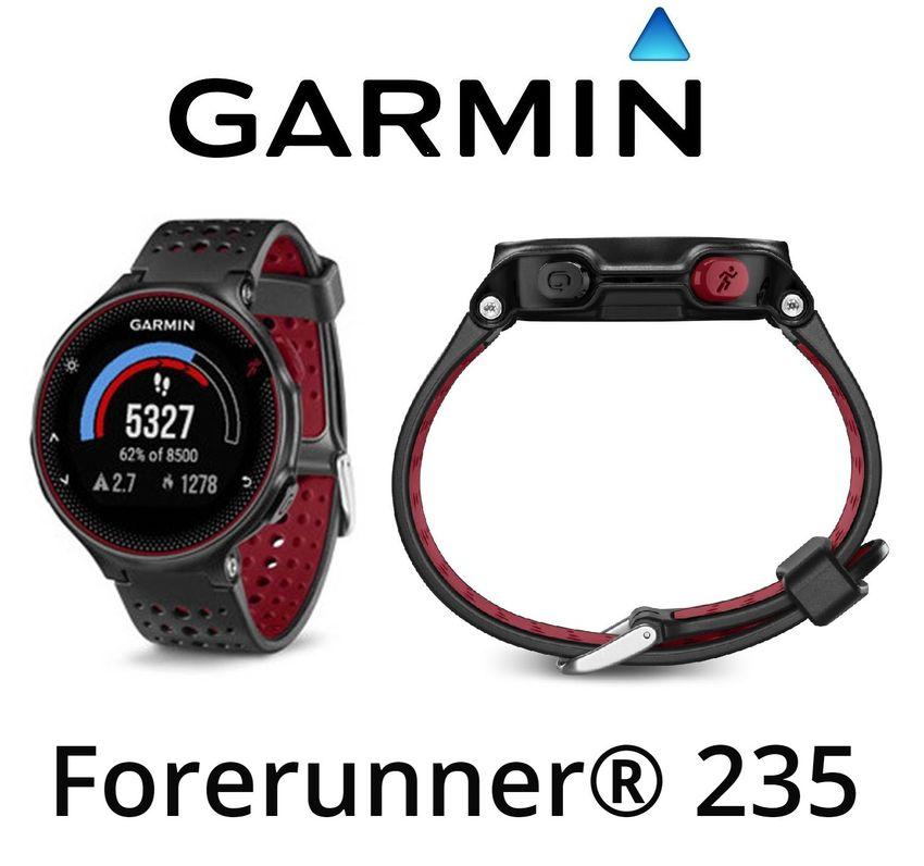 03de290f1bcc Details zu Garmin Forerunner 235 GPS Correr Sport Reloj De la Muñeca Reloj  HR Negro y Rojo