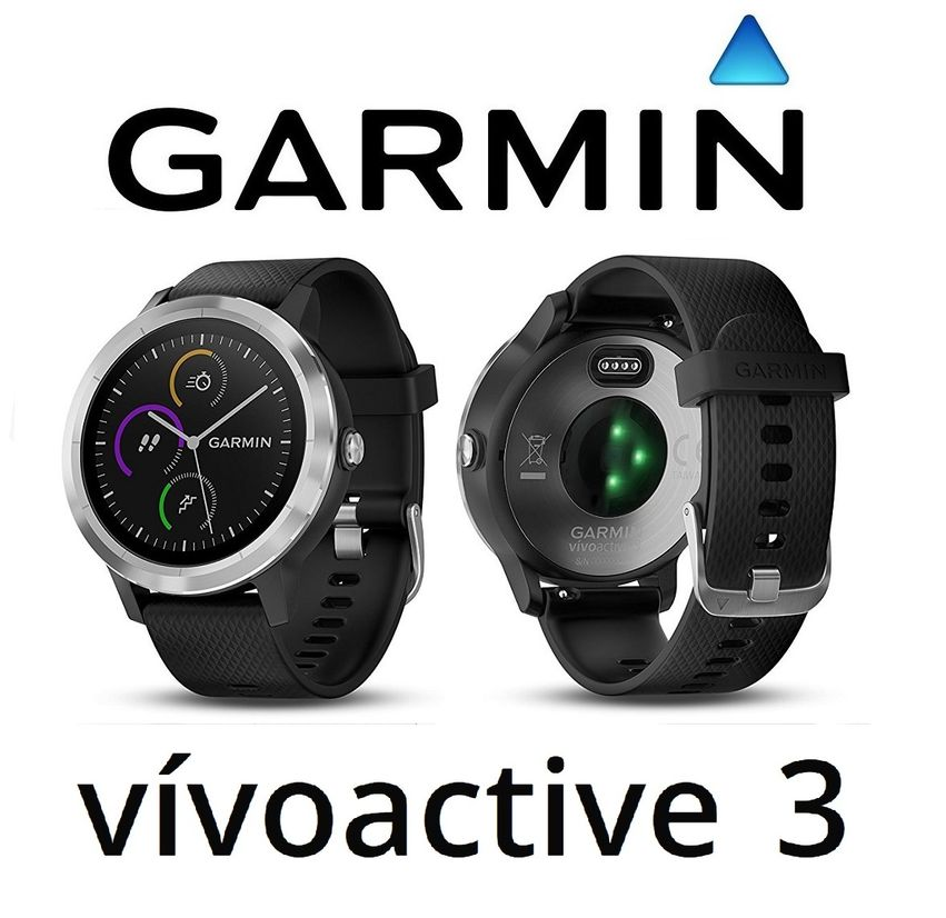 Details about Garmin Vivoactive 3 GPS Smartwatch Black Band Built-in Sports  Apps Wrist HR