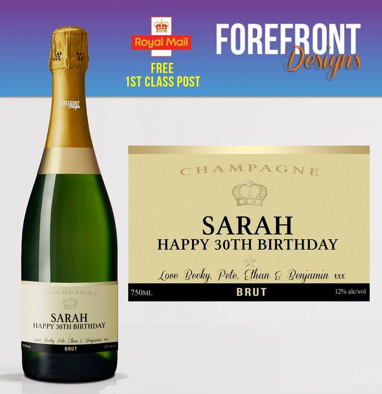 24 Free Spirit Personalized Wedding Wine Bottle Labels