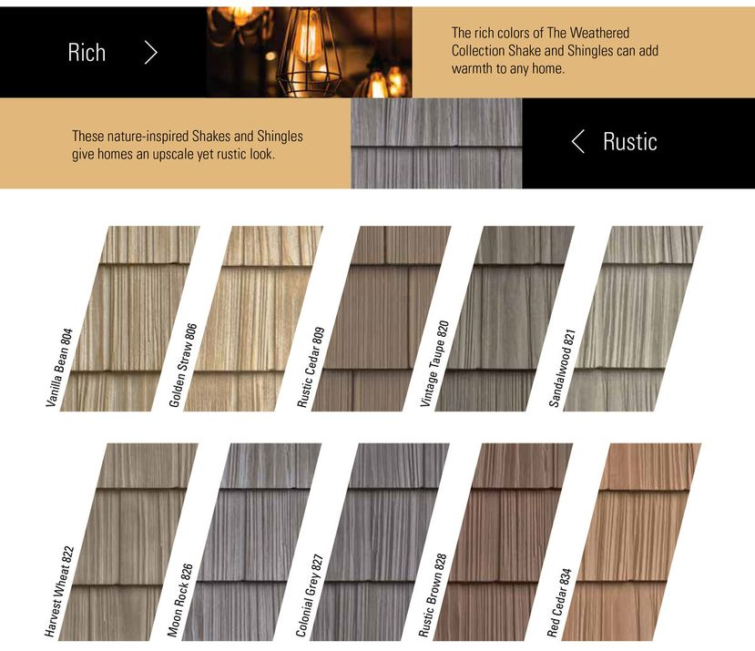 Vinyl siding split shake like real cedar shake 34 colors for What is 1 square of vinyl siding