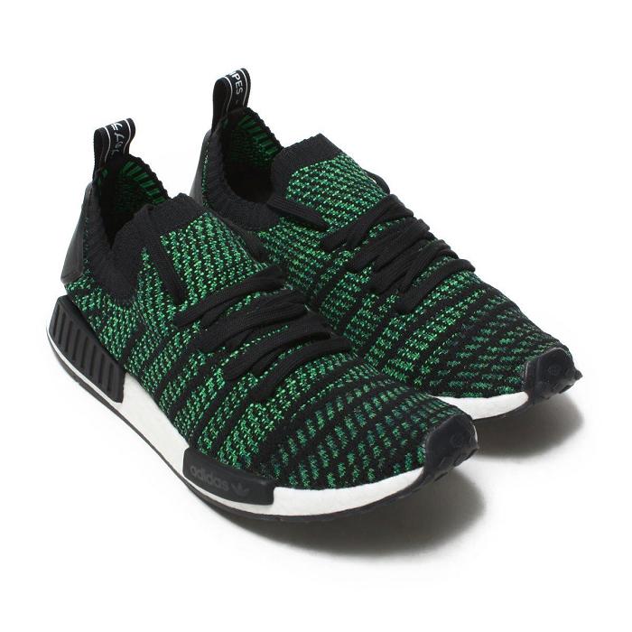 Adidas NMD_R1 STLT PK Schwarz & Grün | AQ0936 Schuhe
