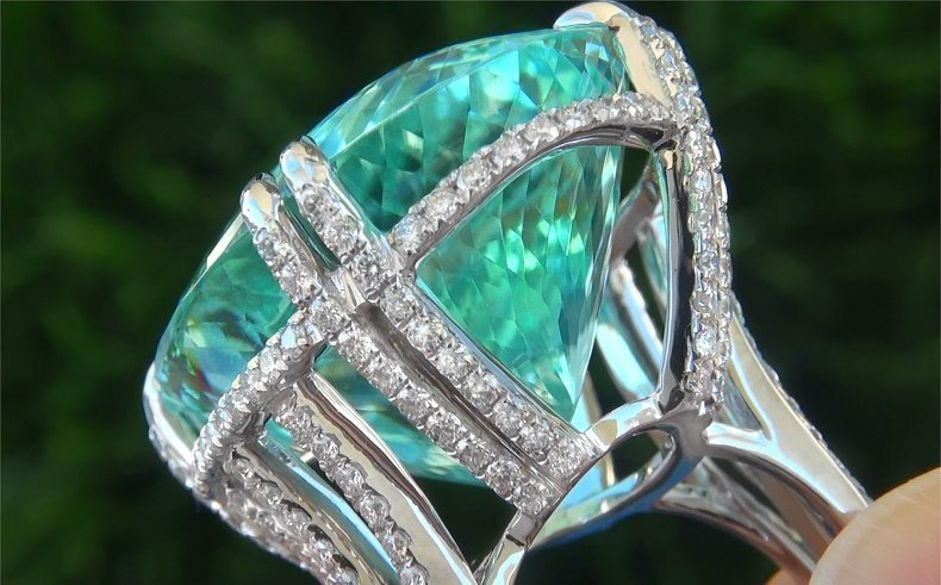 Gia Certified Flawless Paraiba Tourmaline Diamond Platinum