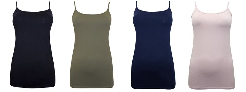 Ladies Womens Strappy Cami Camisole Vest Top Stretch Sizes 10-20 RRP £9.99