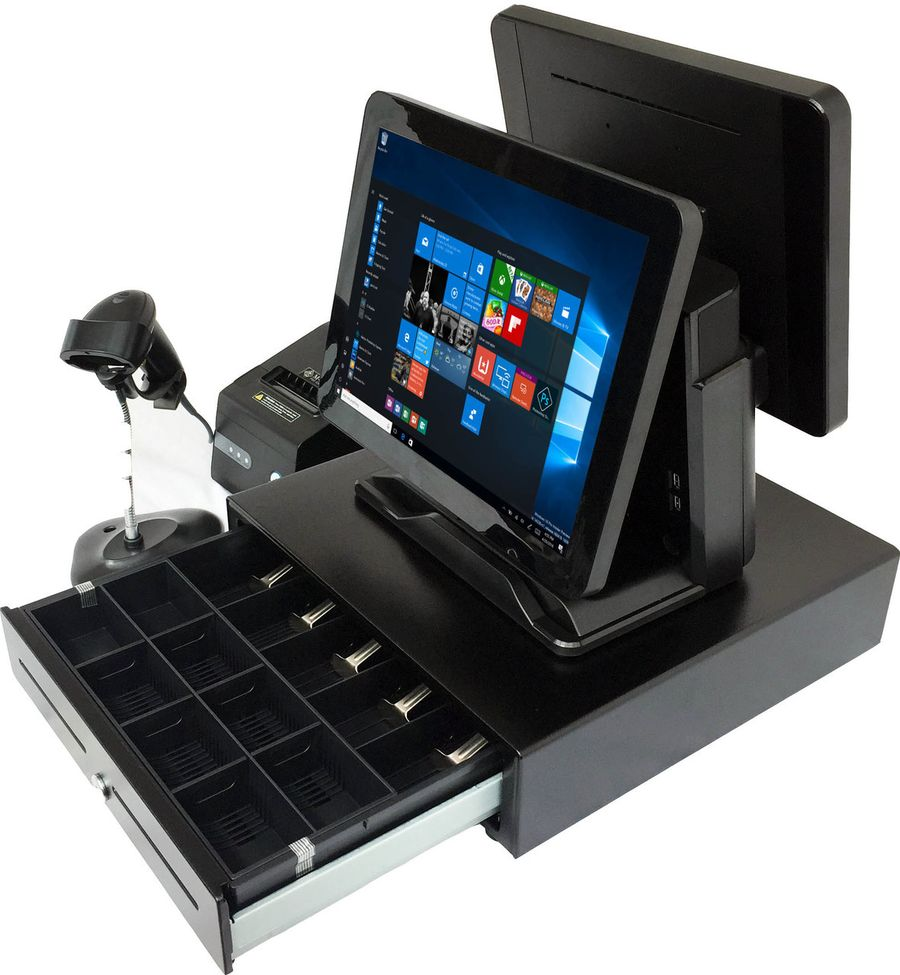 Dual 15 Quot Capacitive Touch Pos Terminal Heavy Duty Point
