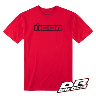 Icon Motorsports Motorbike Motorcycle OG T Shirt Adult Red All Sizes