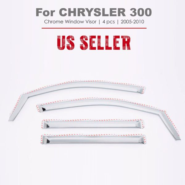 Chrome Vent Window Visors Wind Deflectors In Channel For