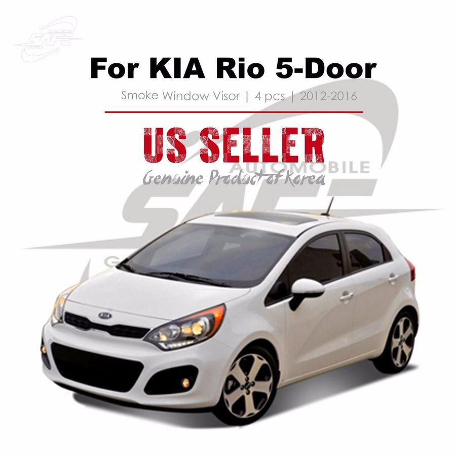 Window Rain Sun Visor Genuine parts For KIA Rio 5D Hatch Back 2012-2016