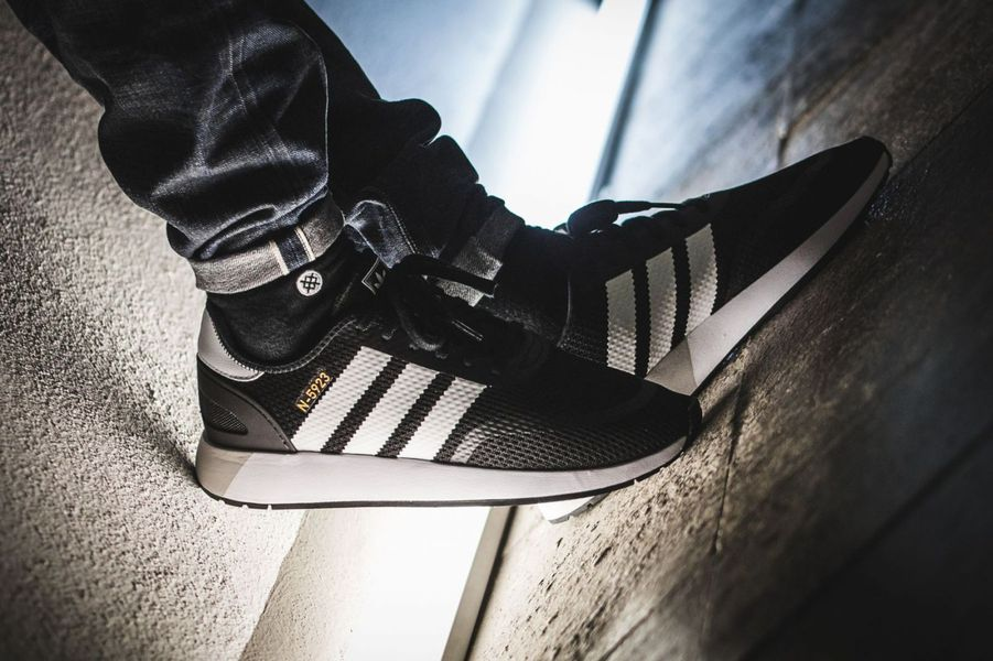 Details about ADIDAS ORIGINALS N 5923 INIKI BLACK WHITE GREY US 7.5 NEW IN BOX CQ2337