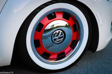 "ATLAS Front 16/"" Slim Rear 15/"" Wide Motorcycle WhiteWall tire insert trim set.."