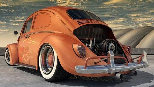 DECKLID SCRIPT EMBLEM STAINLESS STEEL VW1500 EURO MODELS FITS VW TYPE1 BUG