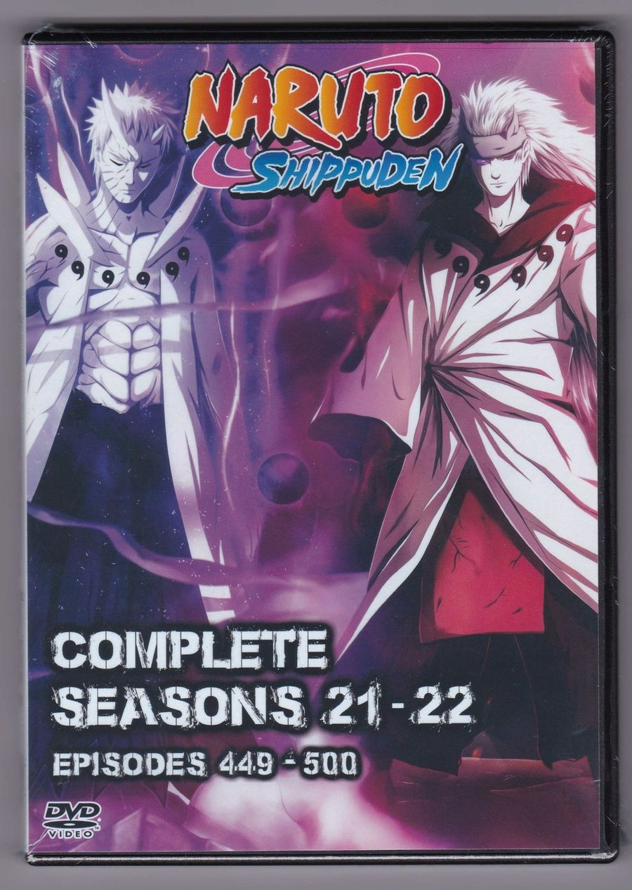 Naruto Shippuden Episodes 449 500 English Dub Seasons 21 22 On Dvd Anime Ebay