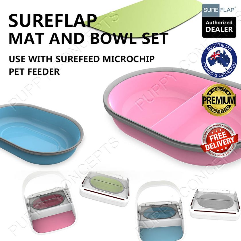 Dishes, Feeders & Fountains Sureflap Surefeed Microchip Pet Feeder Multi Cat Stainless Steel Bowl Value Pack