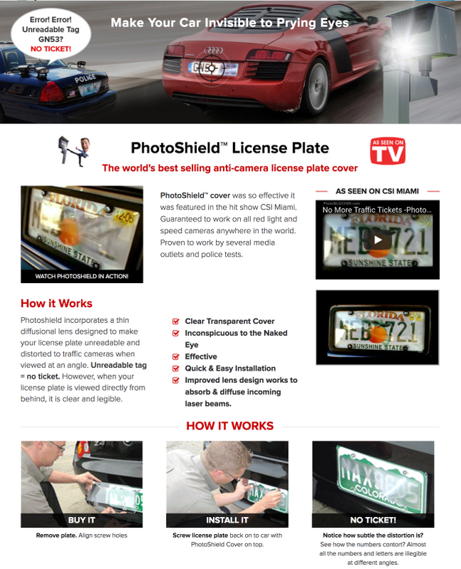 Details about Anti Red Light Camera & Speed Camera License Plate Cover  PhotoShield Cover (1)
