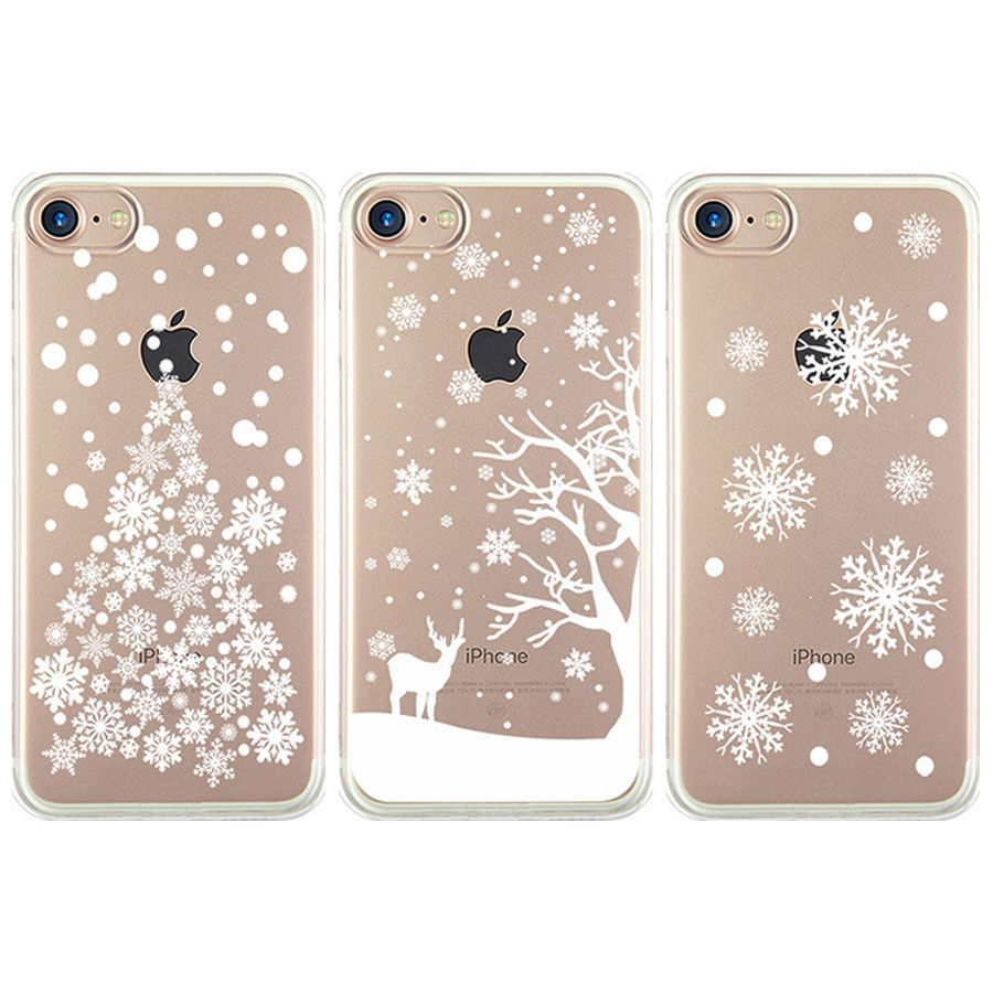 Christmas Tree Reindeer Snowflake Phone Case iPhone 8 Plus 7 X XS 6 ...