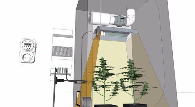 Ventilatore Grow Room Ventilatore Box Fan Howell Ventilatore A