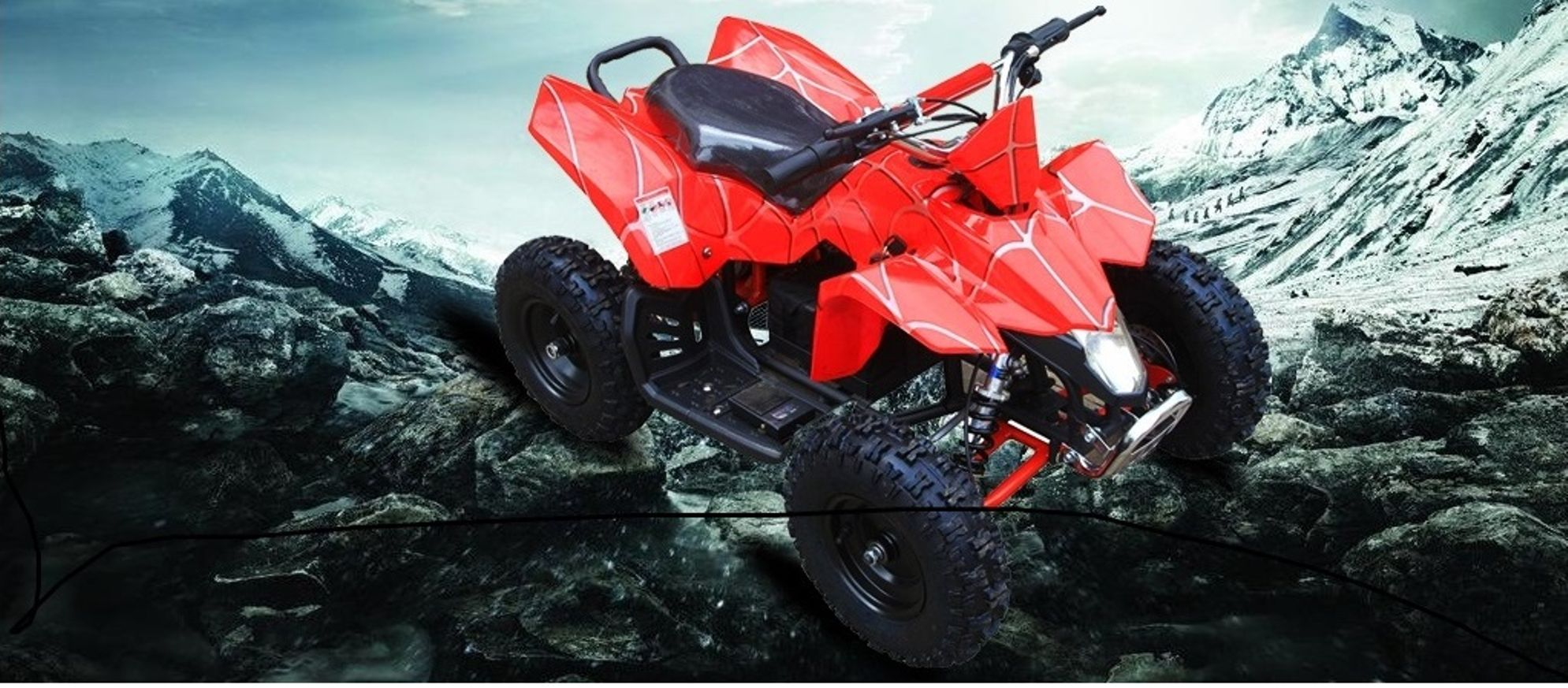 Atv Ride On Quad Electric Car 24 V Battery Power Toy For Kid Real Rubber Tire